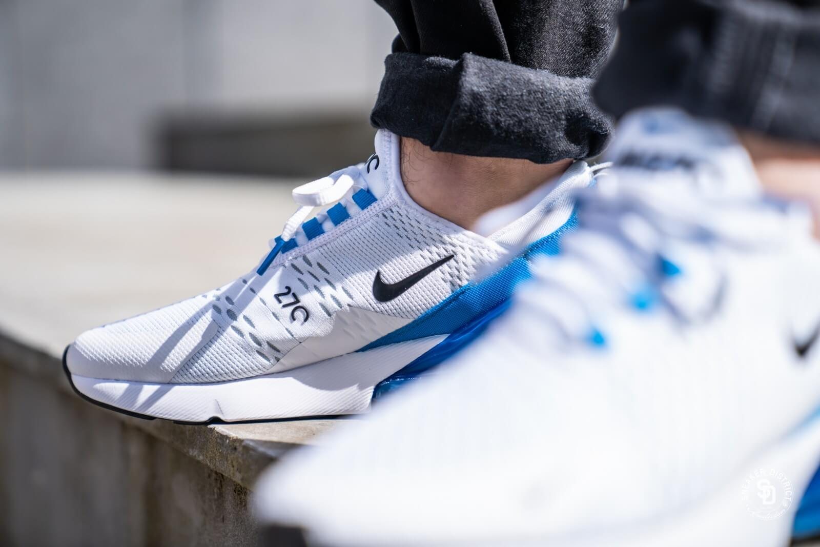 administración casual vendaje  Nike Air Max 270 White/Black-Photo Blue - AH8050-110