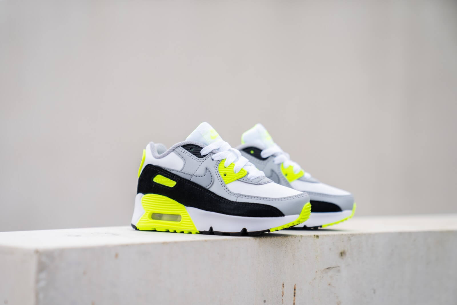 Nike Air Max 90 Ps White Particle Grey Volt Cd6867 101