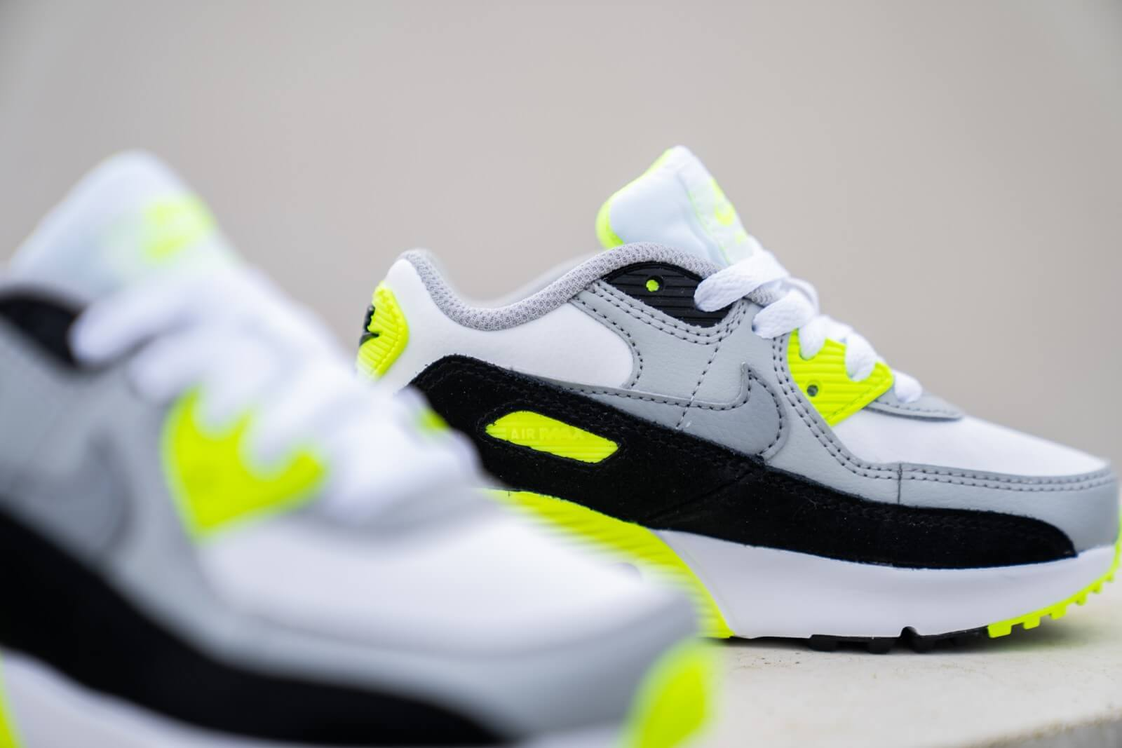 Nike Air Max 90 PS White/Particle Grey-Volt