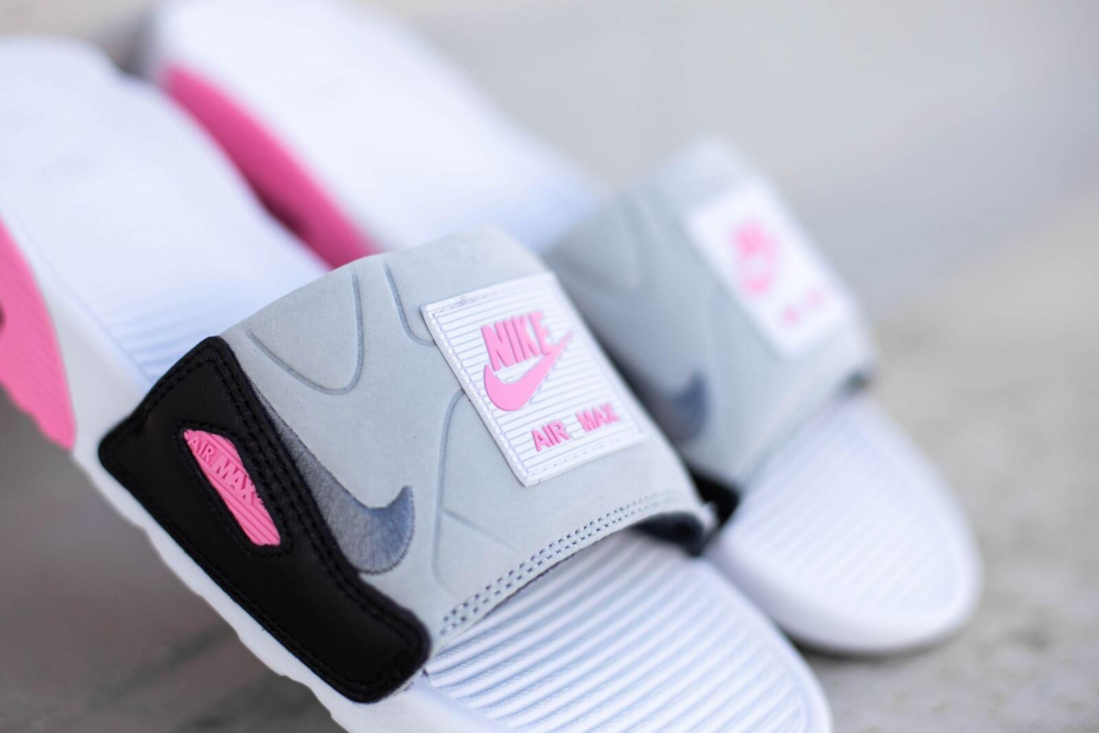 Nike Air Max 90 Slide WhiteSmoke Grey Rose BQ4635 100