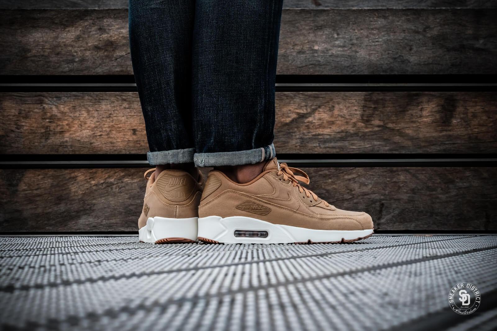Nike Air Max 90 Ultra 2.0 Leather Flax Herre Sneakers