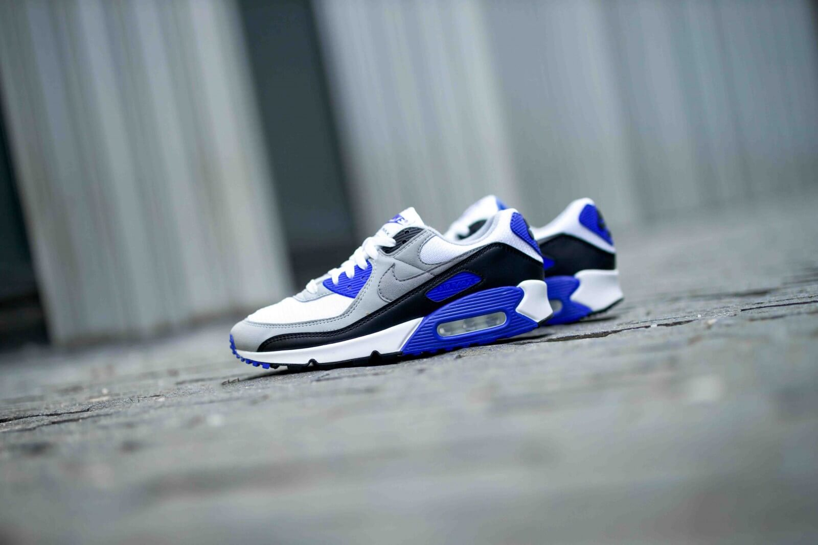 Nike Air Max 90 WhiteParticle Grey Royal Blue CD0881 102