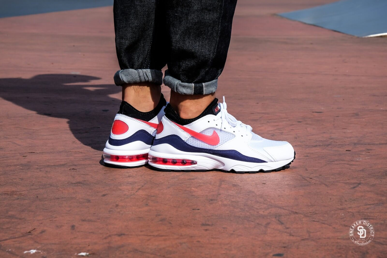 Nike Air Max 93 White/Habanero Red-Neutral Indigo - 306551-102