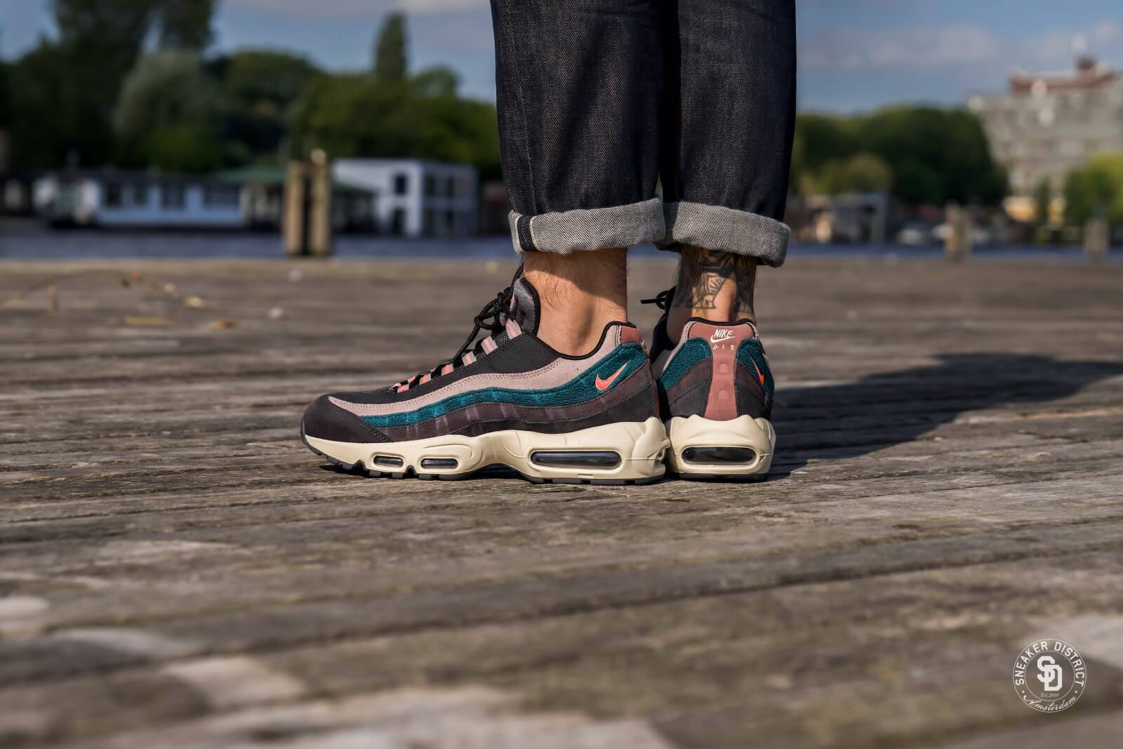 nice shoes watch new york Nike Air Max 95 Premium Oil Grey/Bright Mango-Thunder Grey - 538416-018