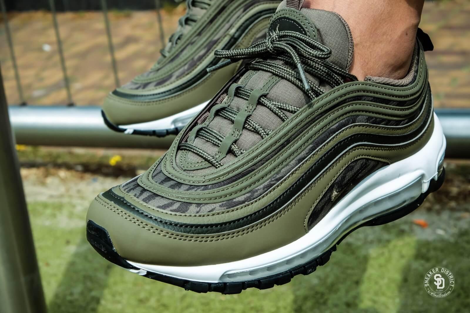 Nike Air Max 97 AOP Medium Olive/Sequoia-Black - AQ4132-200