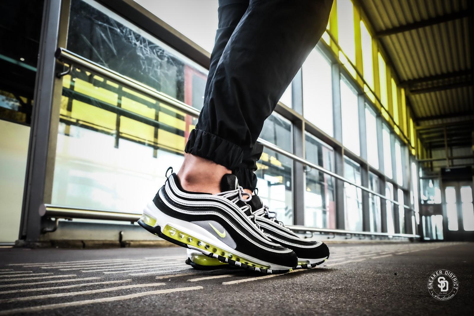 Nike Air Max 97 BlackVolt Metallic Silver sneakers bestellen voor heren | Sneaker District