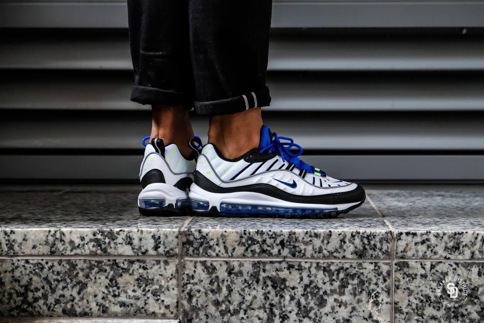 Nike Air Max 98 White/Black-Racer Blue