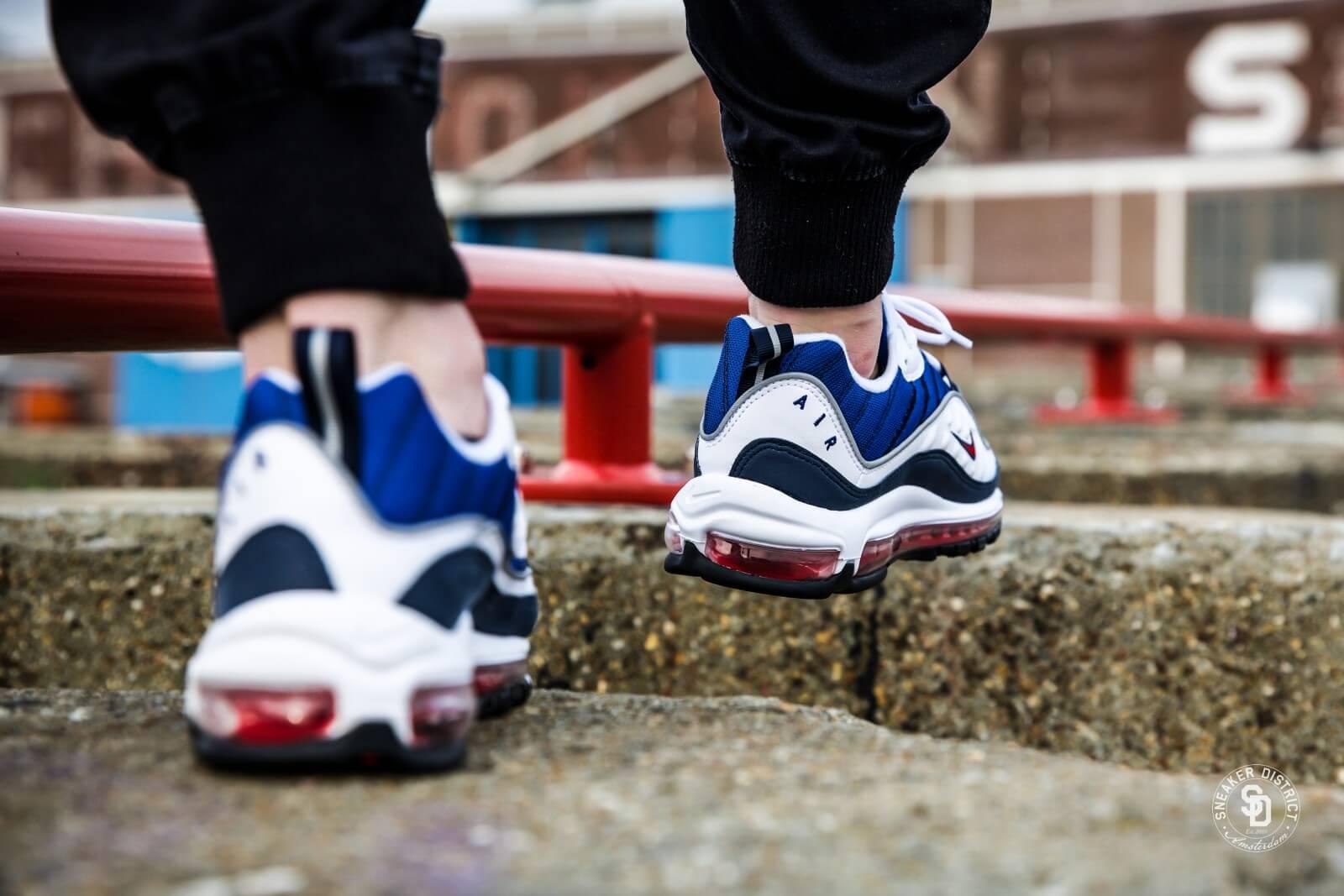 Nike Air Max 98 Kvinner Røde Jeans L5ioz