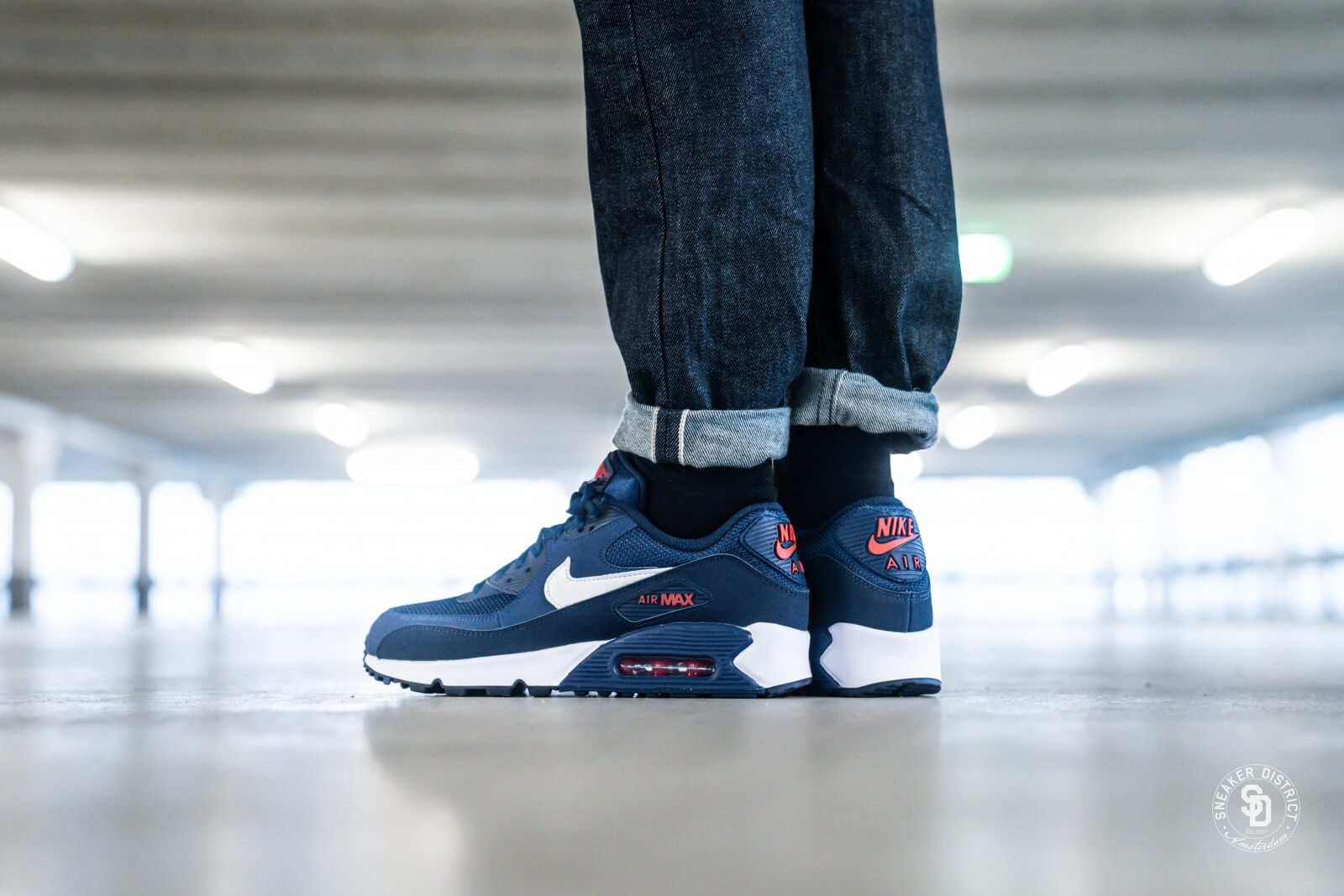 Insustituible Resonar Analítico  Nike Air Max 90 Essential Midnight Navy/White-University Red - AJ1285-403