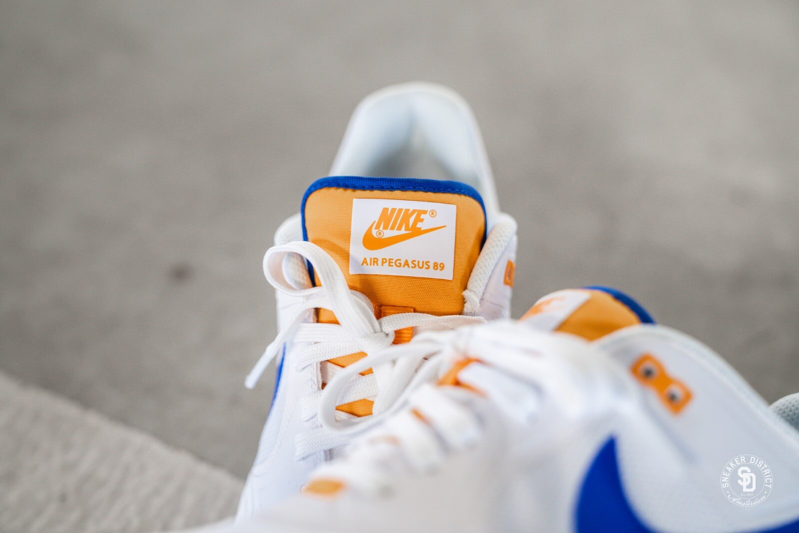 Nike Air Pegasus '89 White/Racer Blue-Orange Peel