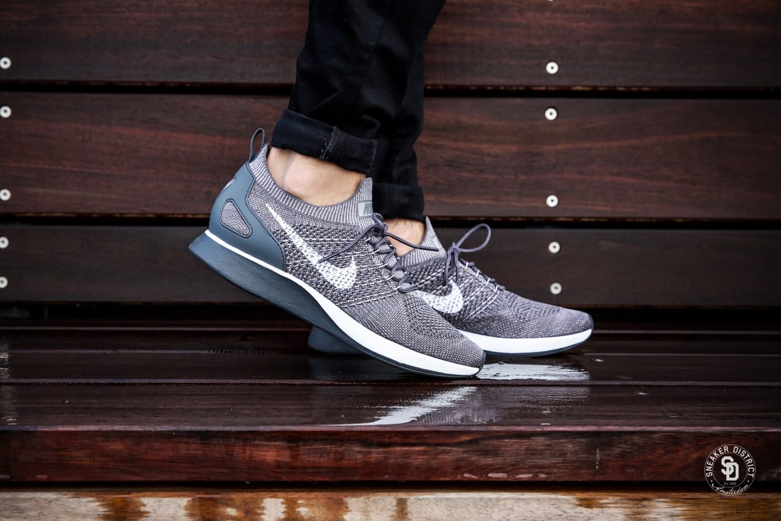 Nike Baskets Coureur Zoom Mariah De Flyknit Air - Gris AvXchN2