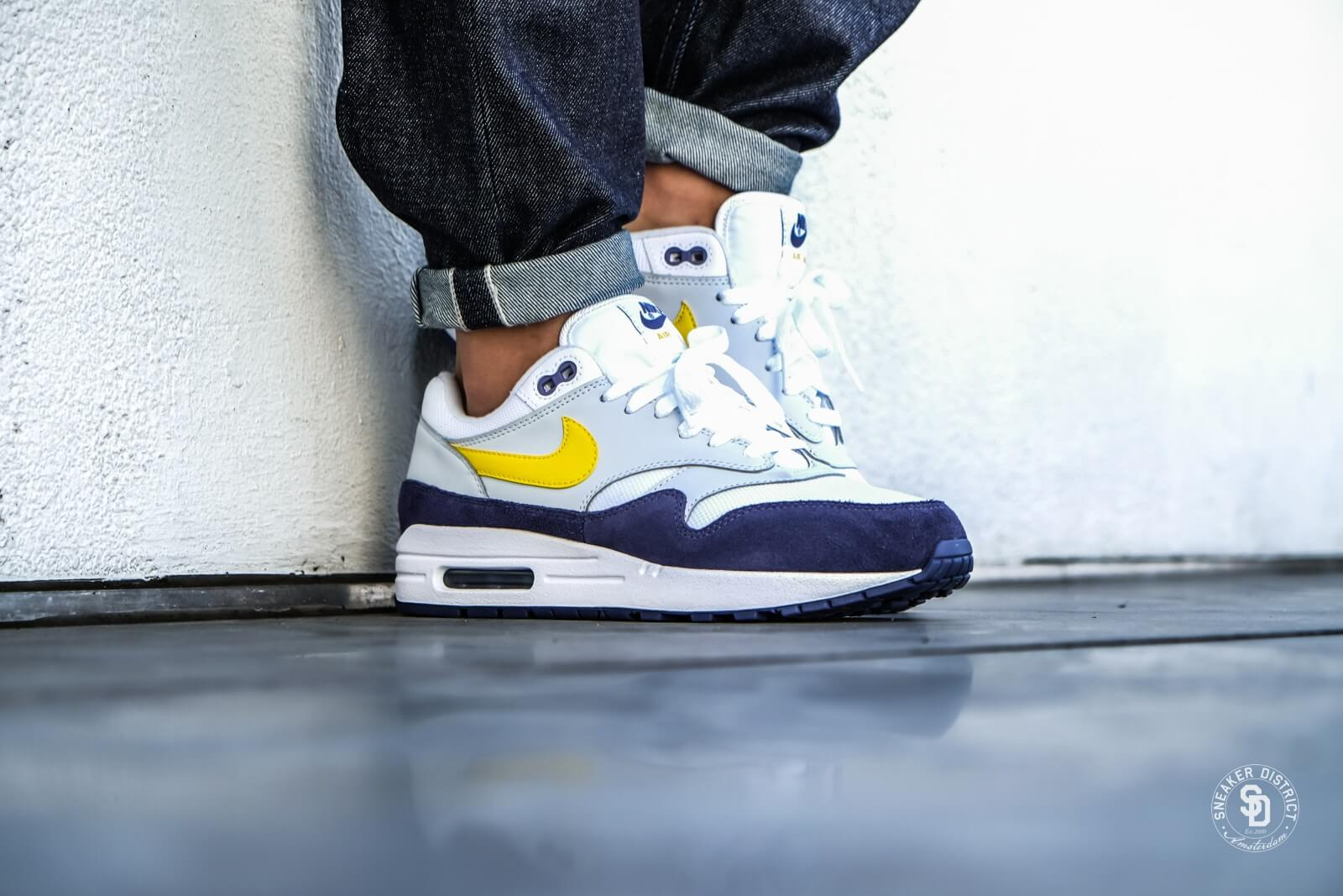 Nike Air Max 1 WhiteTour Yellow Blue Recall AH8145 105