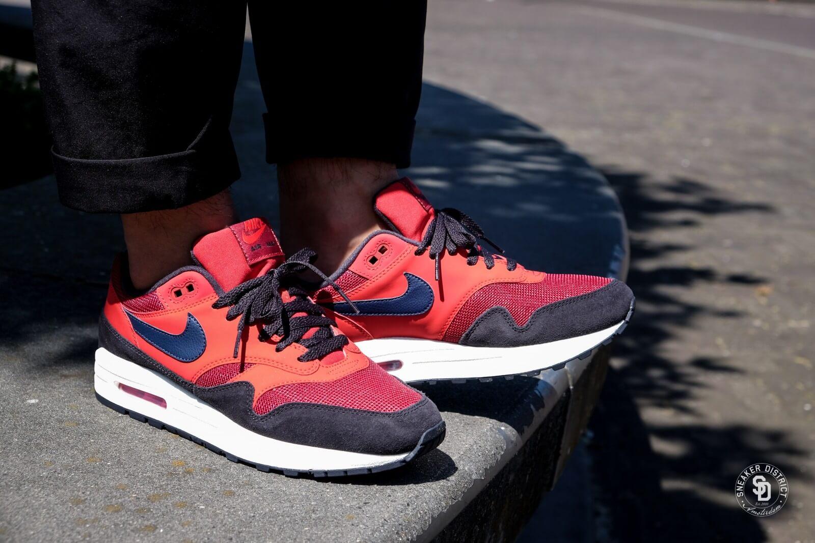 Nike Air Max 1 Red Crush/Midnight Navy