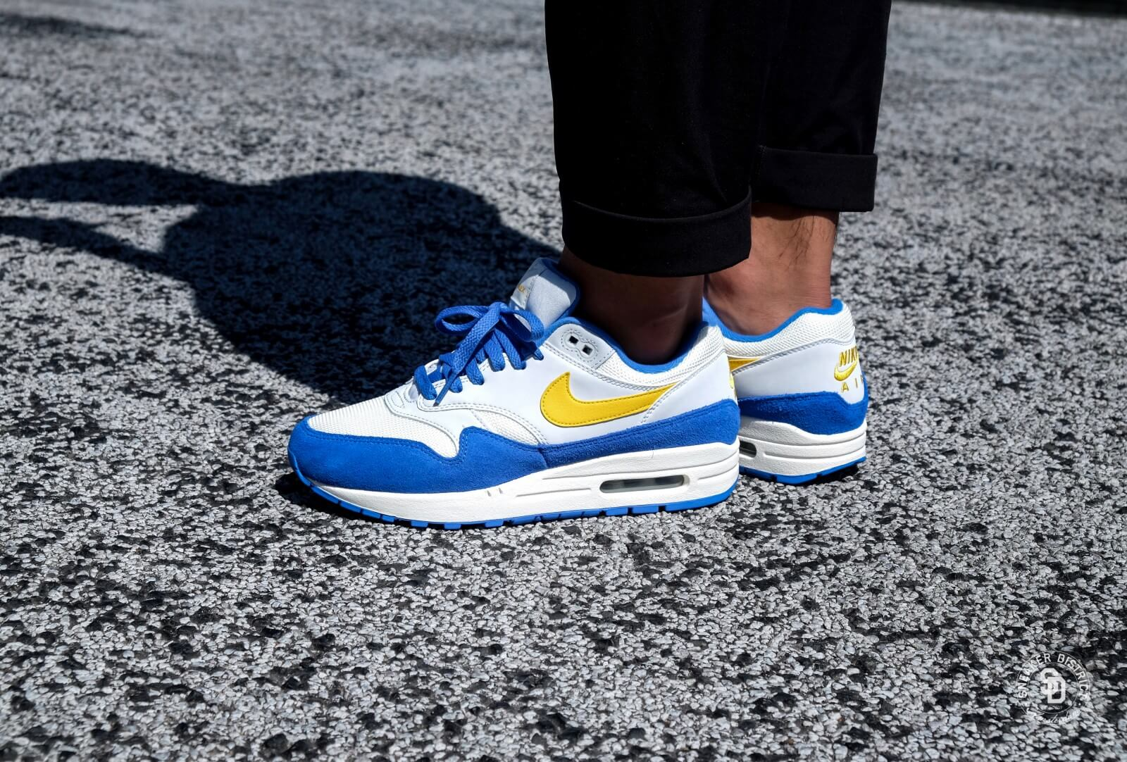 super popular 05985 4f149 ... new style nike air max 1 sail amarillo pure platinum signal blue 47207  a485b