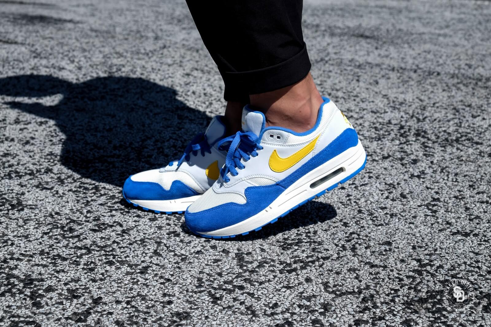 premium selection 7a4e2 d8a24 ... new style nike air max 1 sail amarillo pure platinum signal blue 5015e  856d2