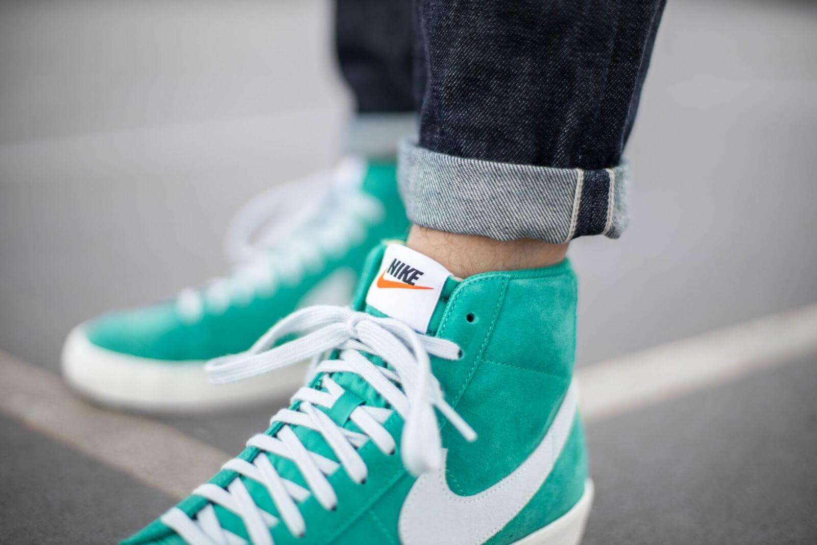 Nike Blazer Mid '77 Suede Neptune Green/Pure Platinum