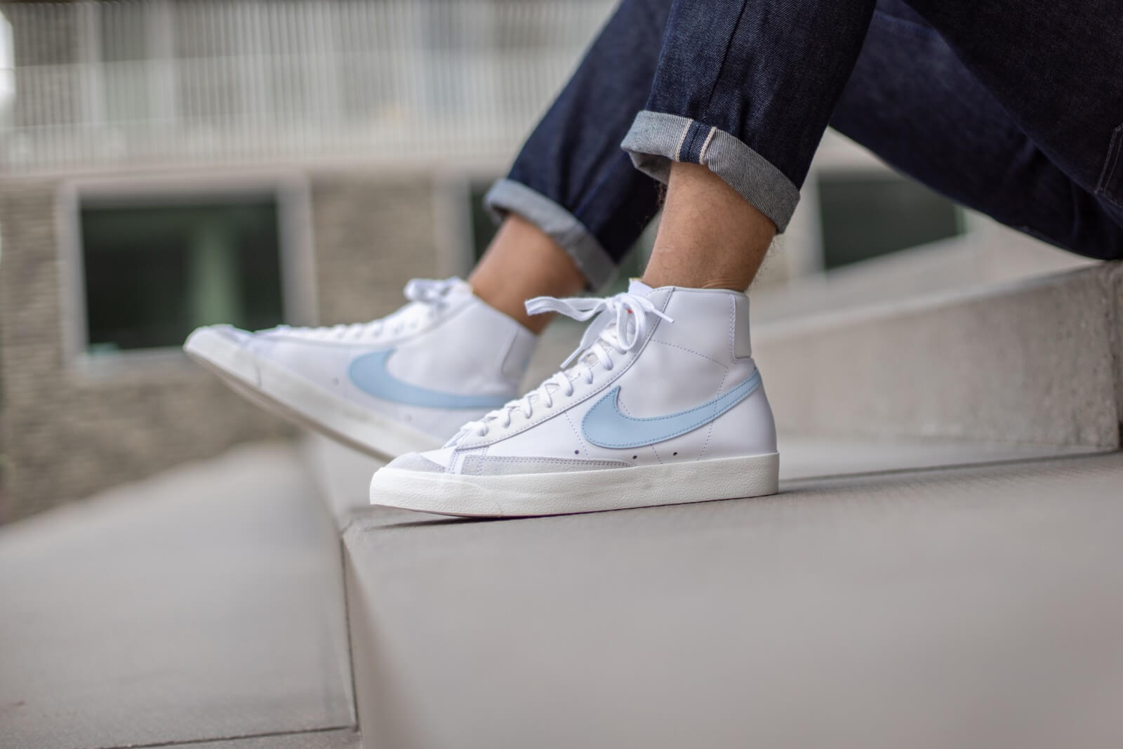 Nike Blazer Mid '77 Vintage White/Celastine Blue-Sail