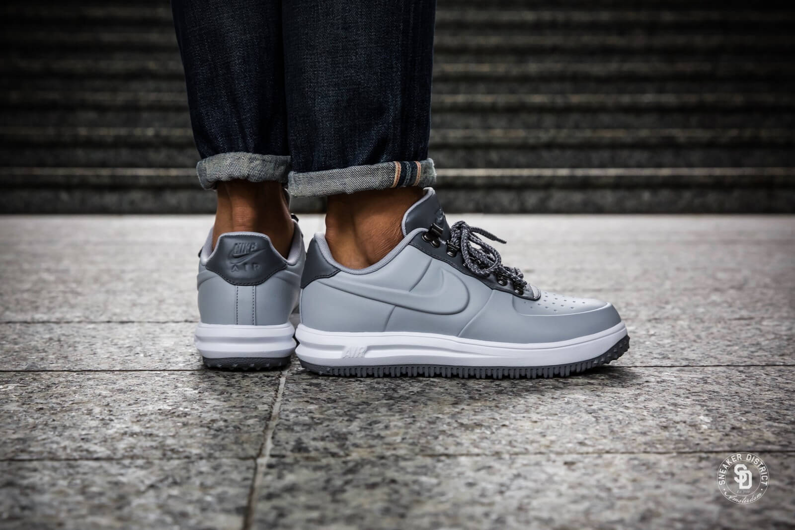 pretty nice hot new products nice cheap Nike Lunar Force 1 Low Duckboot Wolf Grey/Cool Grey sneakers | Gratis  verzendkosten | Sneaker District