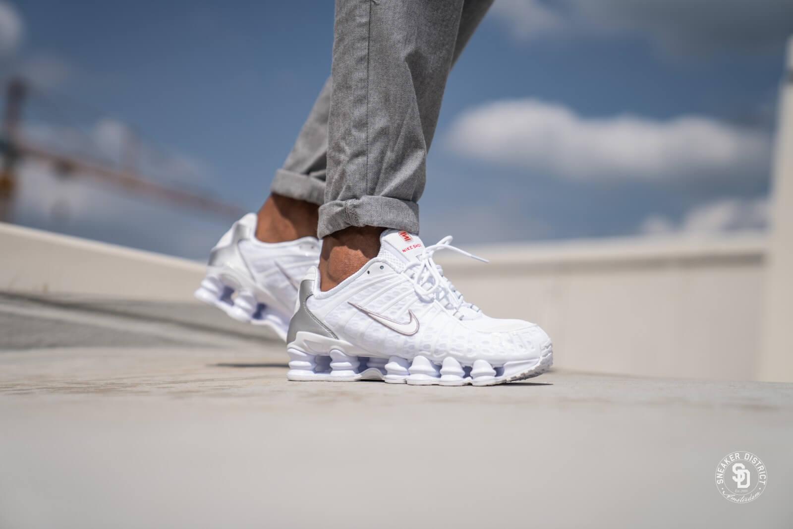 Nike Shox TL White/Metallic Silver