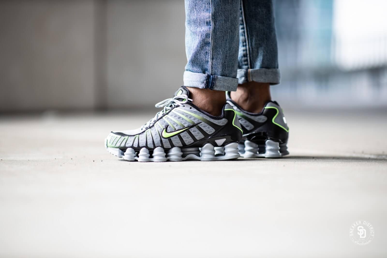 Nike Shox TL Wolf Grey/Lime Blast-Black