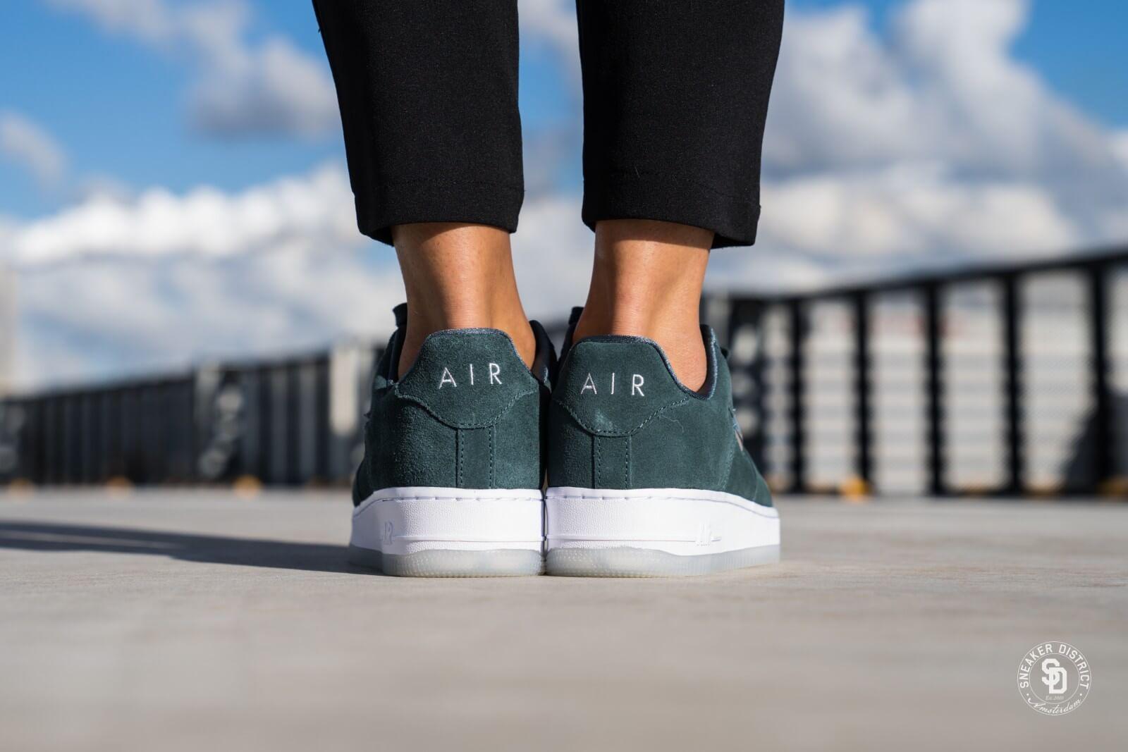 ... Black discount  8d5e9 71ed6 Nike Womens Air Force 1 07 Premium LX Faded  SpruceMetallic Silver top brands ... 49d68b20f419