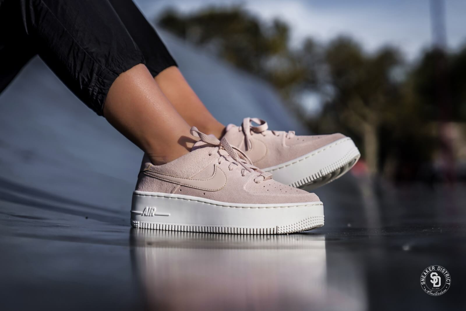 Nike Women S Air Force 1 Sage Low Particle Beige Phantom