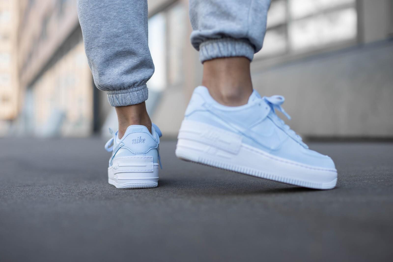 Nike Women's Air Force 1 Shadow Hydrogen Blue/White