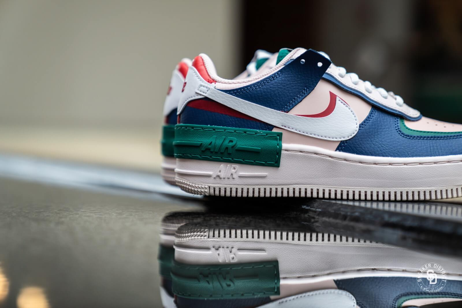Nike Women S Air Force 1 Shadow Mystic Navy White Echo Pink Ci0919 400 4.3 out of 5 stars 11 ratings. nike women s air force 1 shadow mystic navy white echo pink
