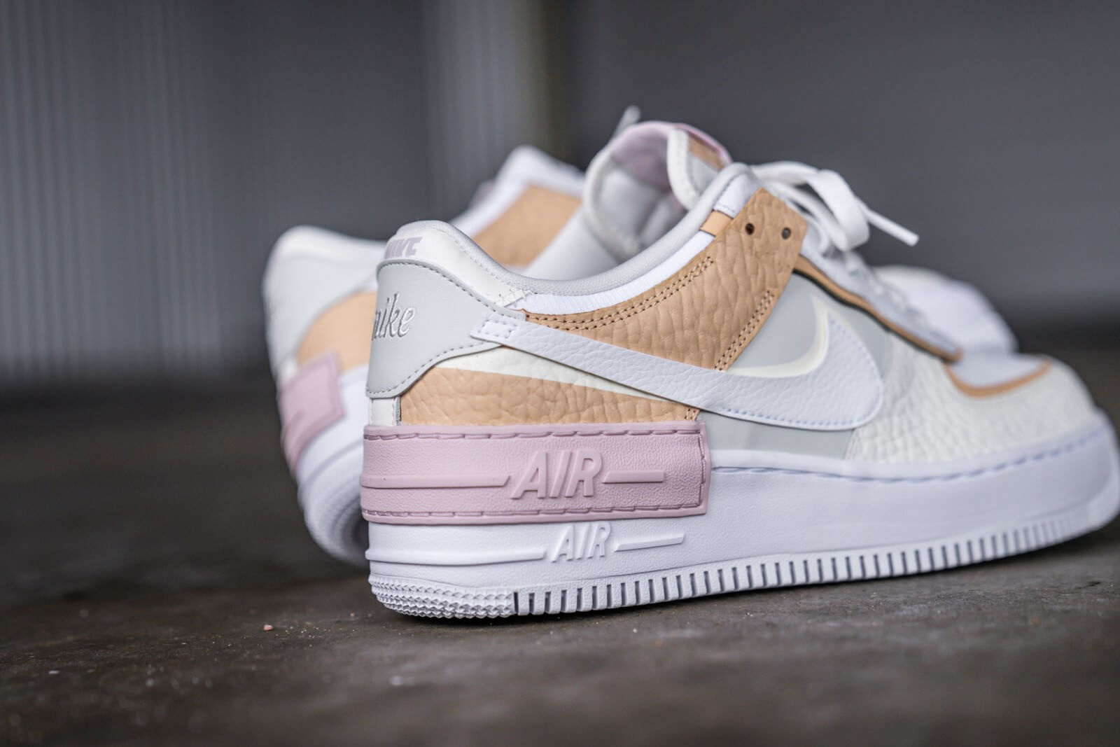 nike air force 1 shadow rose et blanche