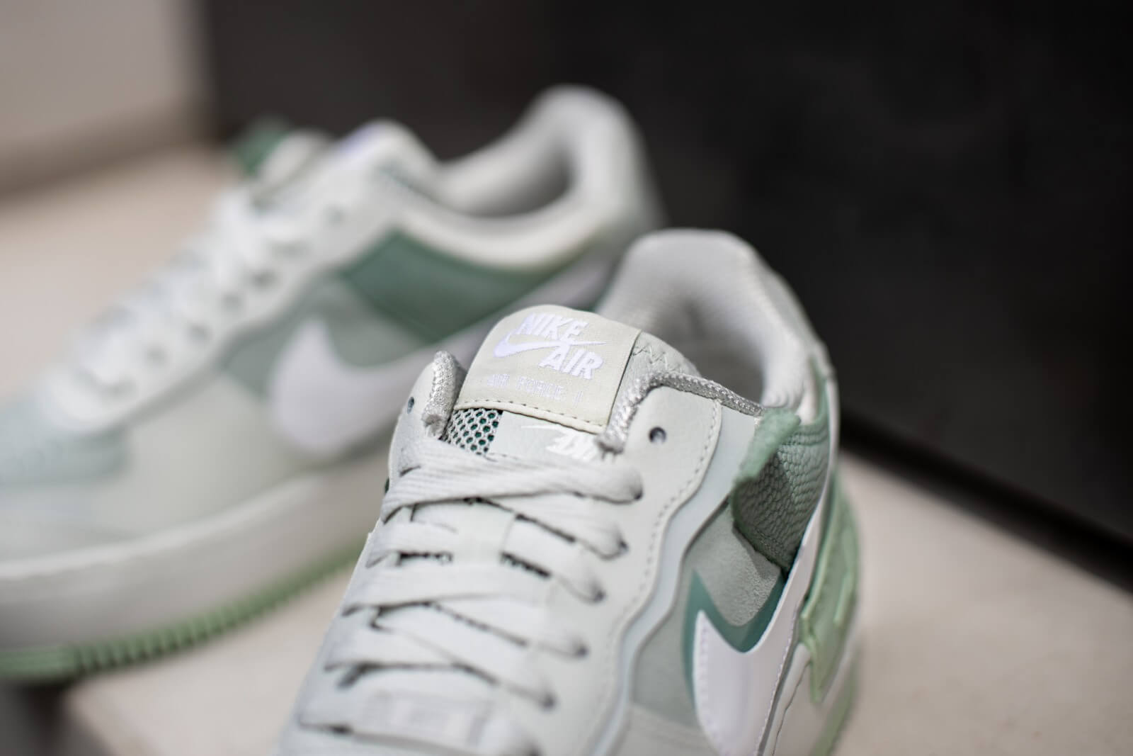 Nike Women's Air Force 1 Shadow Spruce Aura/White-Pistachio Frost