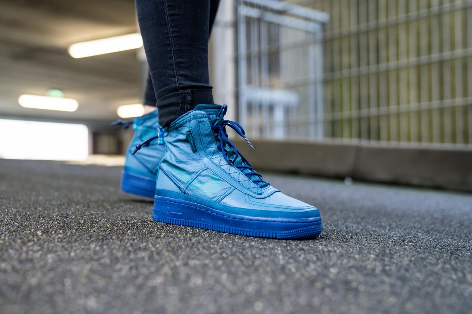 Distribución jalea Contable  Nike Women's Air Force 1 Shell Midnight Turquoise/Geode Teal - BQ6096-300