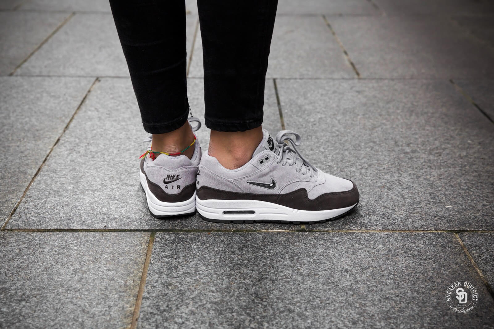 Womens Nike Air Max 1 Premium SC Jewel Wolf Grey Deep Pewter White AA0512-002