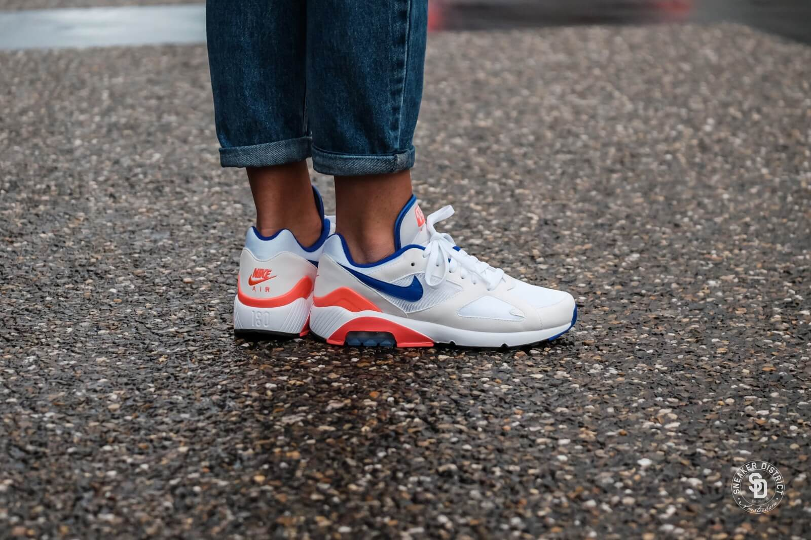 771567d8c3 Nike Women's Air Max 180 White/Ultramarine Solar Red AH6786 100