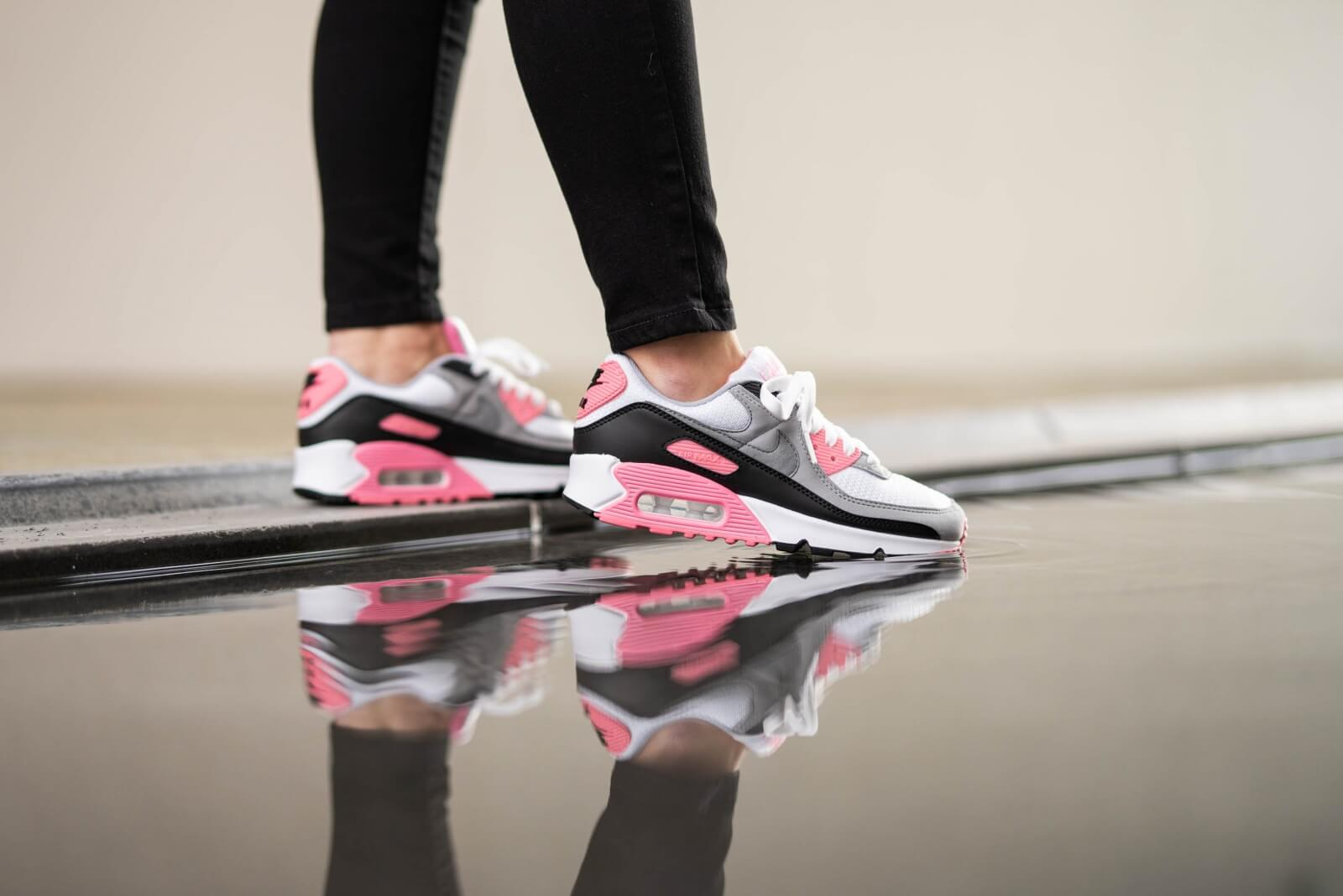 Nike Women's Air Max 90 White/Particle Grey/Rose