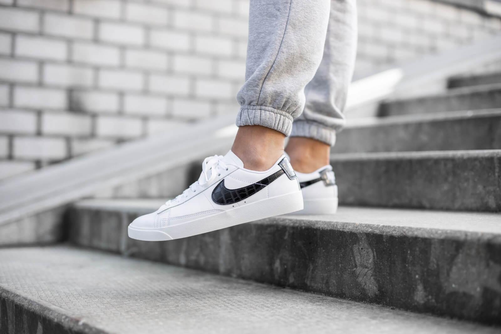 Nike Women's Blazer Low Croc WhiteBlack