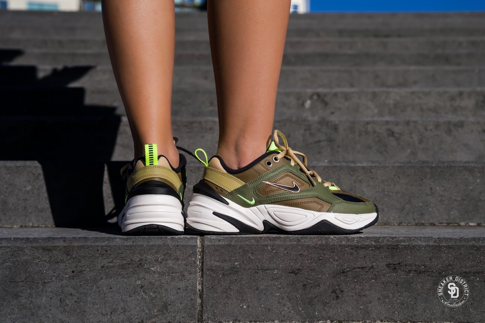 Nike Women's M2K Tekno Medium Olive