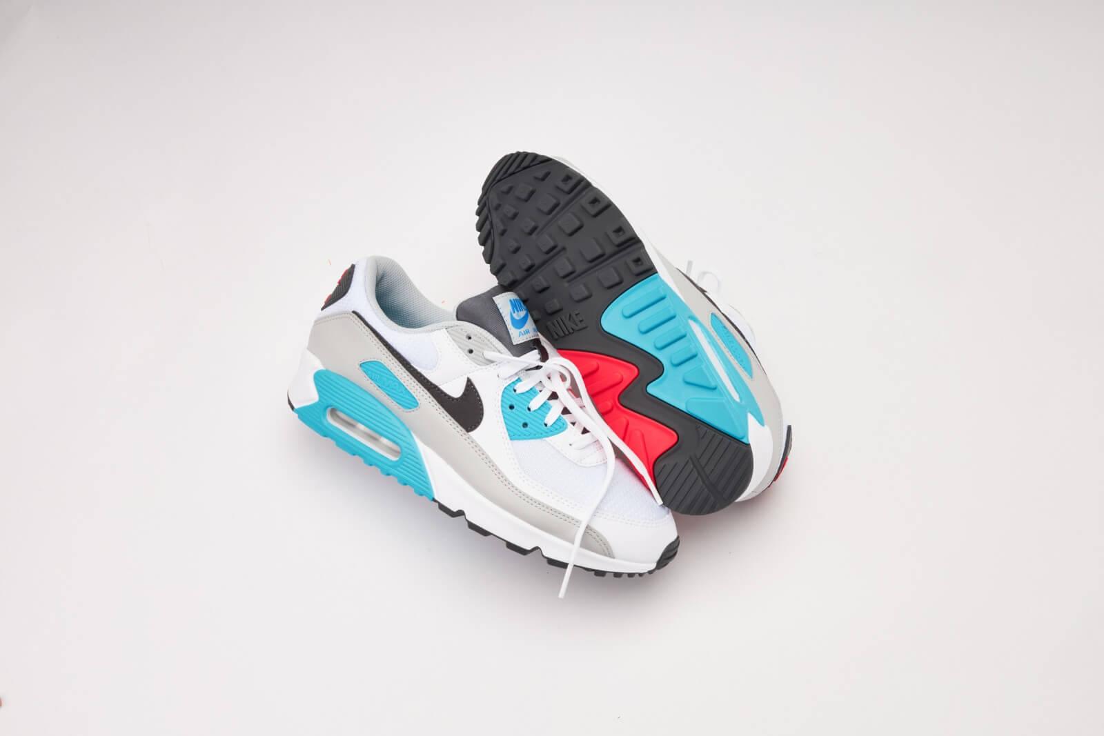 Nike Air Max 90 White/Iron-Chlorine Blue