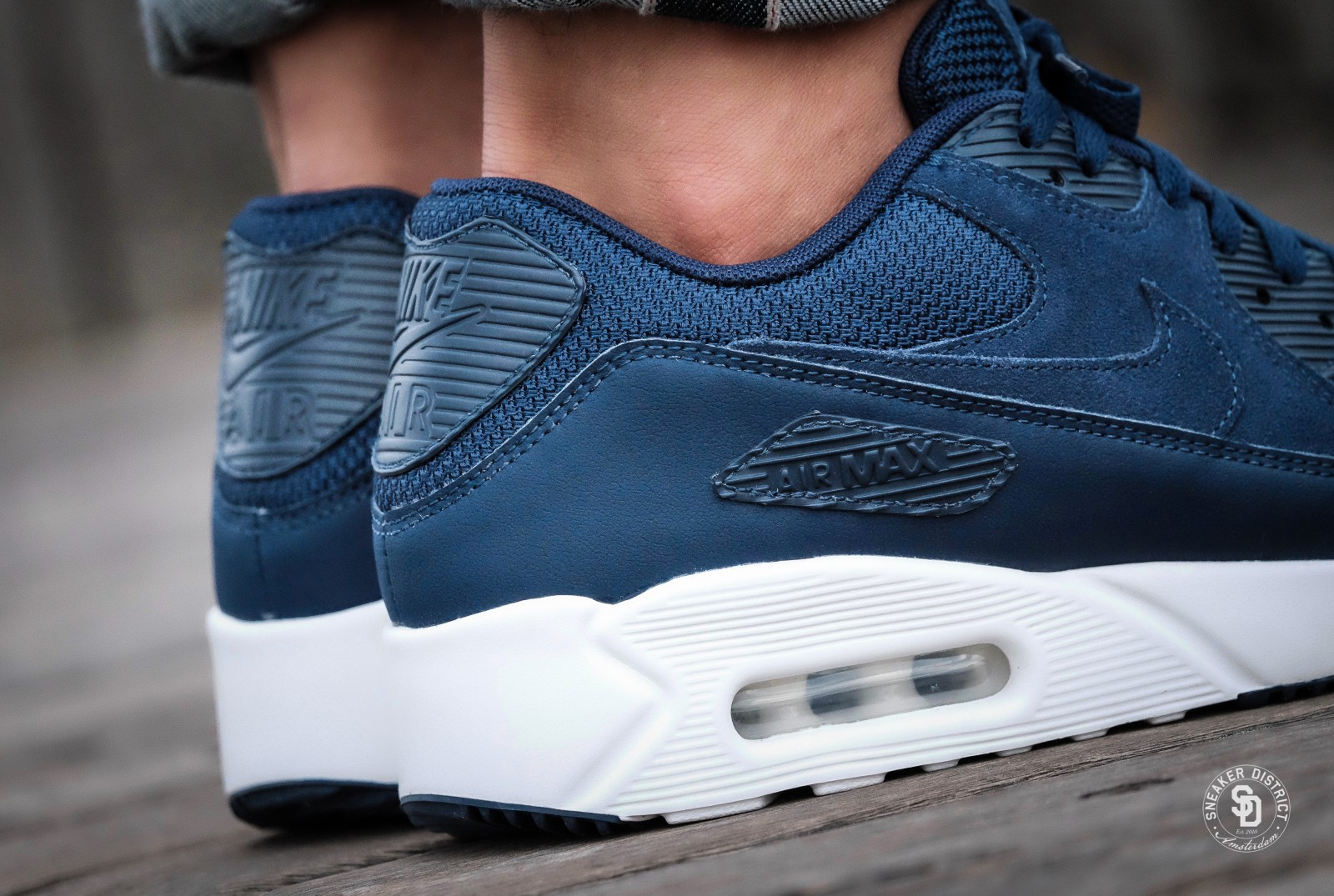 nike air max 90 ultra 2.0 white and blue shoes