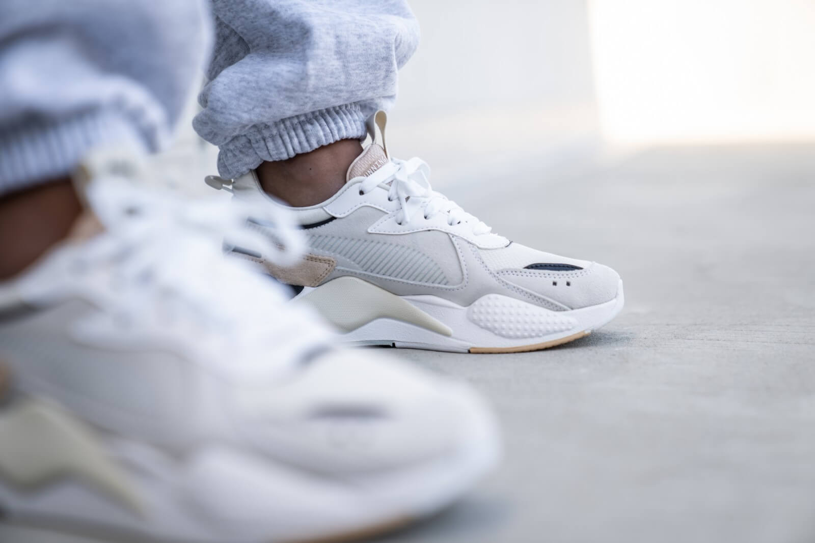 Puma RS X REINVENT Sneakers laag whitenatural