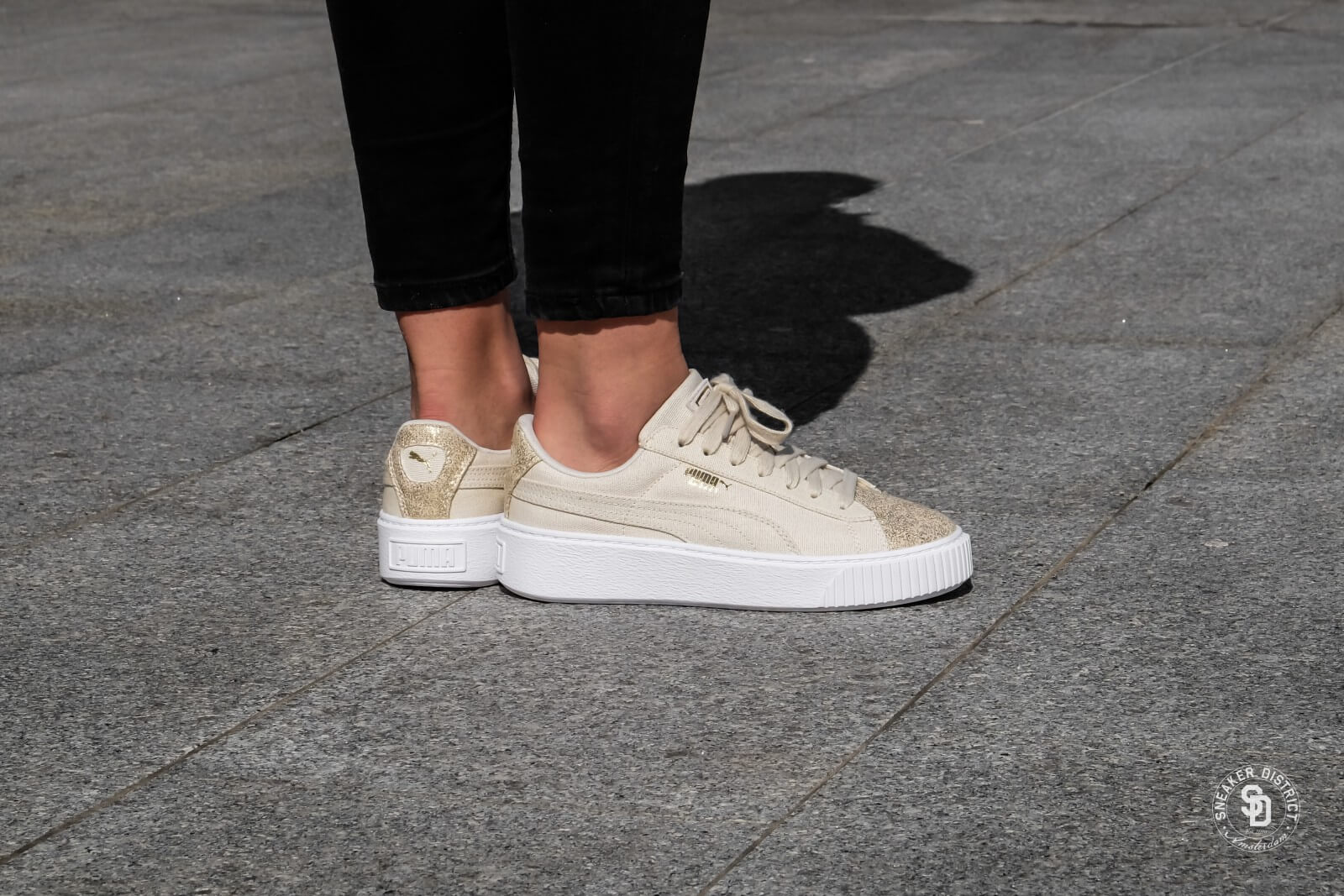 Puma Basket Platform Canvas Wn