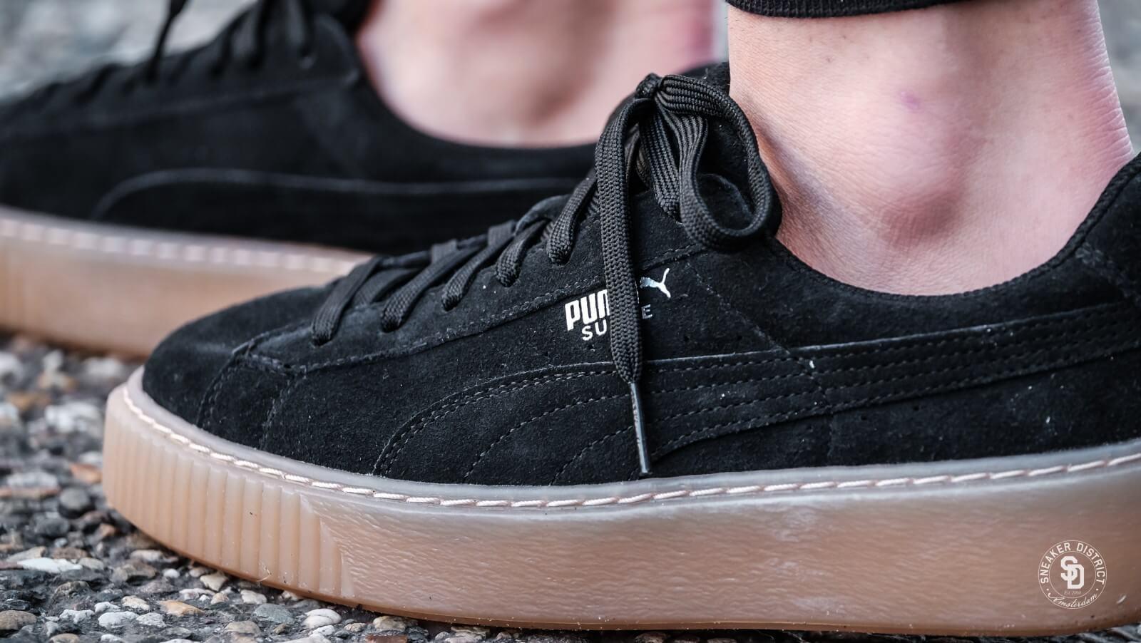 Puma Suede Platform Jewel Jr Puma Black