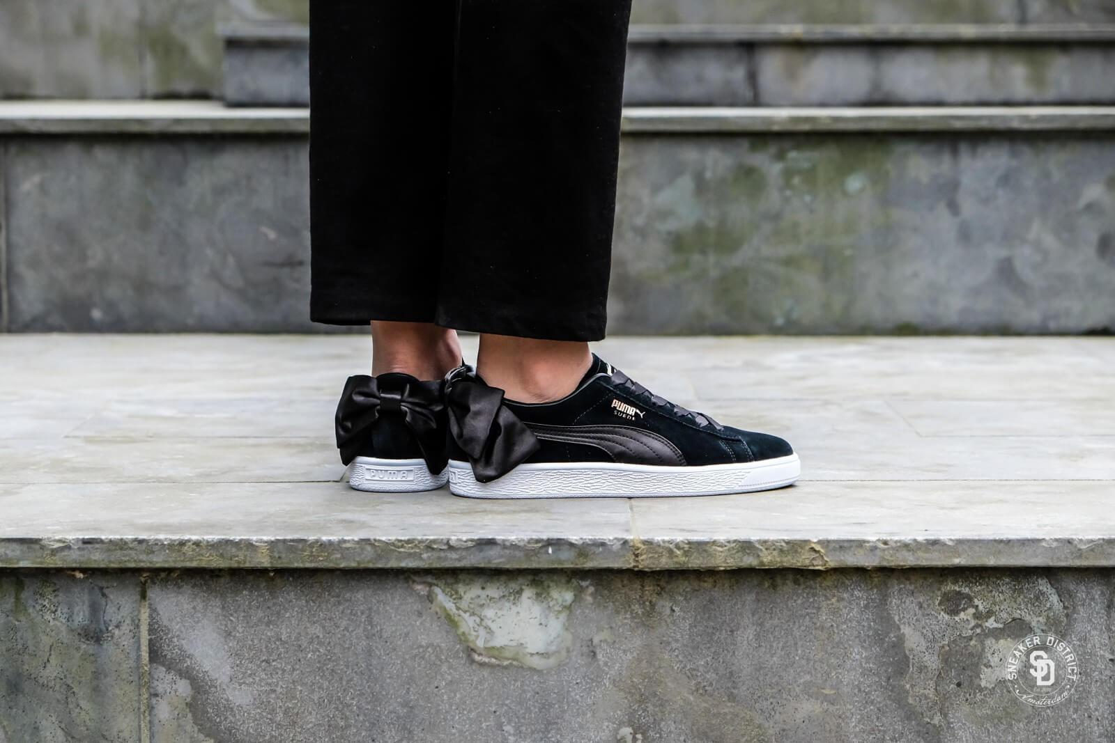 Puma Women's Suede Bow Puma Black