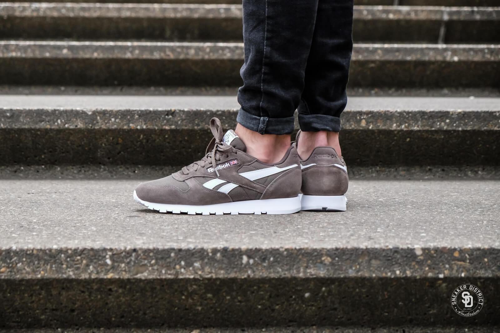 reebok cl leather grey