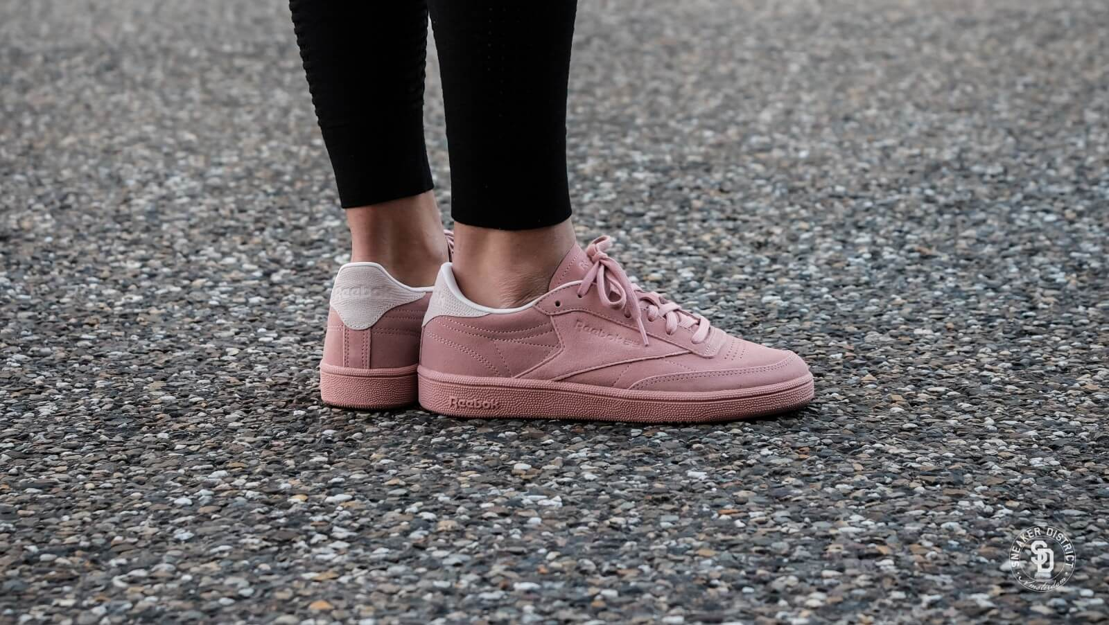 Club C 85 Nubuck Chalk Pink/Pale Pink