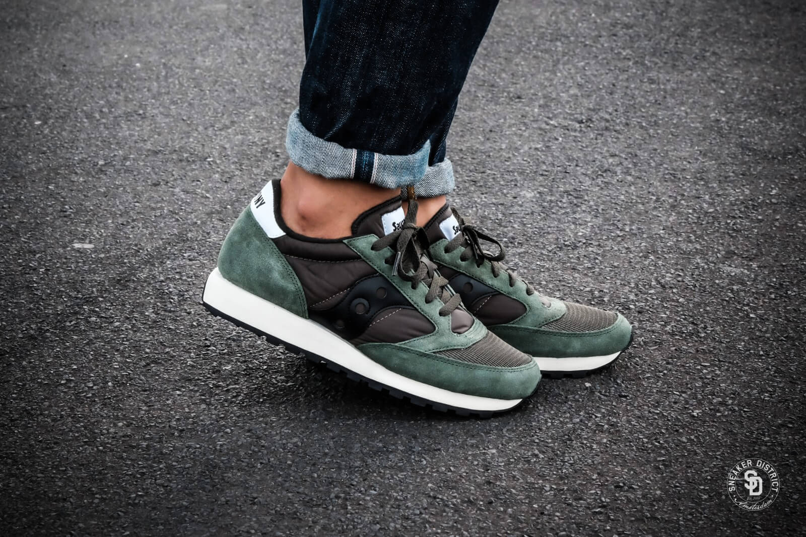 green saucony jazz