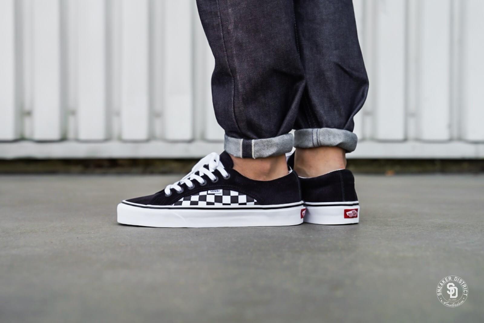 Vans Lampin Checkerboard/Corduroy Black