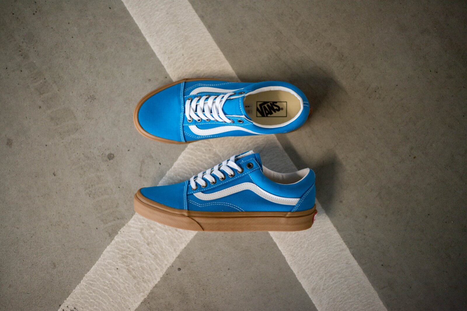 Vans Old Skool Gum/Mediterranian Blue/True White - VN0A4U3BWYZ1