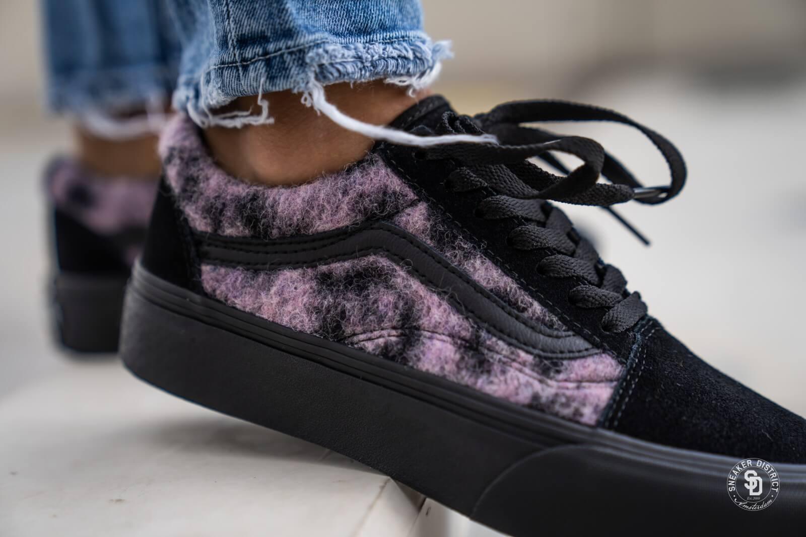 Vans Old Skool Platform Mix Leopard Pink/Black - VN0A3B3UTRE1
