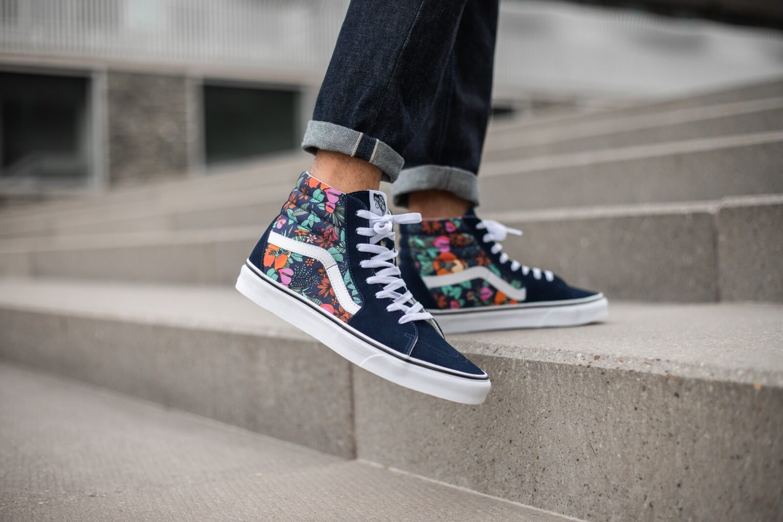 Vans Sk8-Hi Multi Tropic Dress Blue/True White - VN0A4U3CWH9