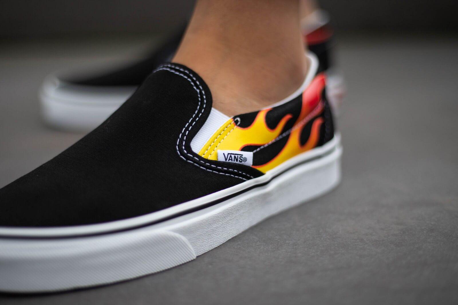Vans Slip-On Flames Black/Black-True